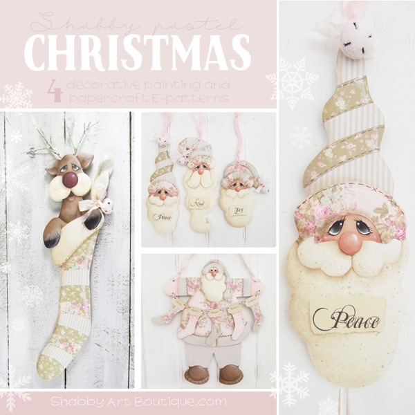 Shabby Pastel Christmas E-patterns from Shabby Art Boutique - FB
