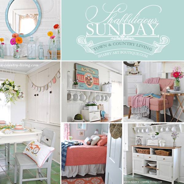 Town and Country Living featured on Shabbilicious Sunday- FB