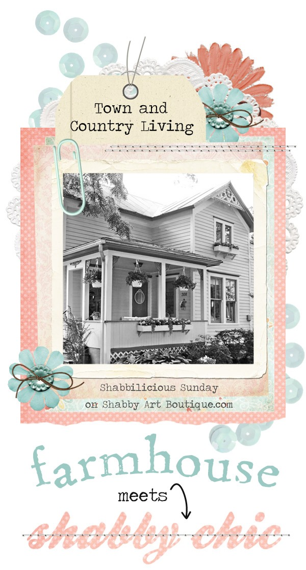When an 1865 farmhouse meets shabby chic, you get a cottage filled with inspiration. Take a tour around Jennifer's home on Shabbilicious Sunday with Shabby Art Boutique.