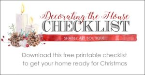 FREE Printable Checklist for Christmas Decorating