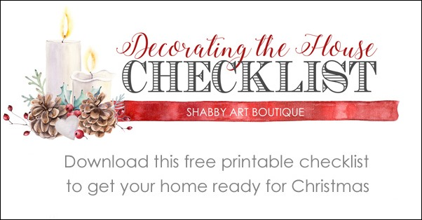 image regarding Free Printable Christmas Decorations named Absolutely free Printable List for Xmas Decorating - Shabby