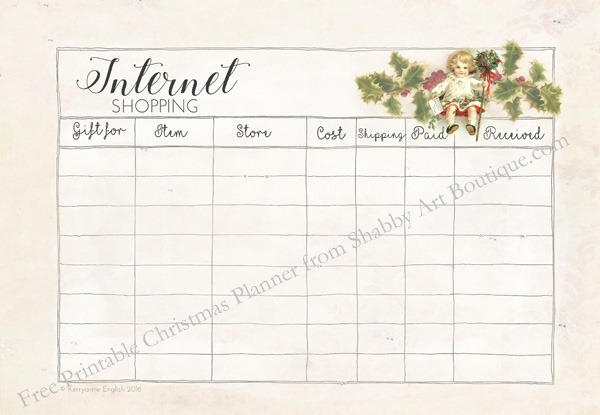 Free printable christmas planner from Shabby Art Boutique. Click now to get your free download.