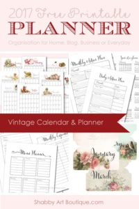 2017 Free Vintage Planner Bundle