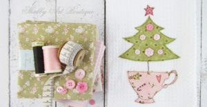 Handmade Gifts – Shabby Christmas Kitchen Towel