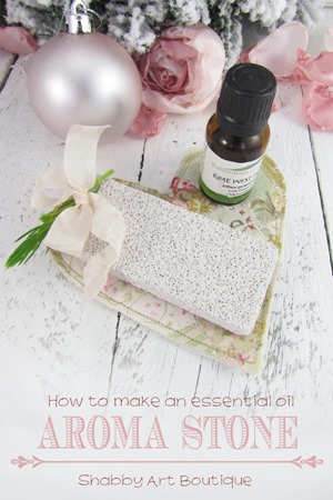 How to make an essential oil pumice aroma stone in just a few minutes by Shabby Art Boutique
