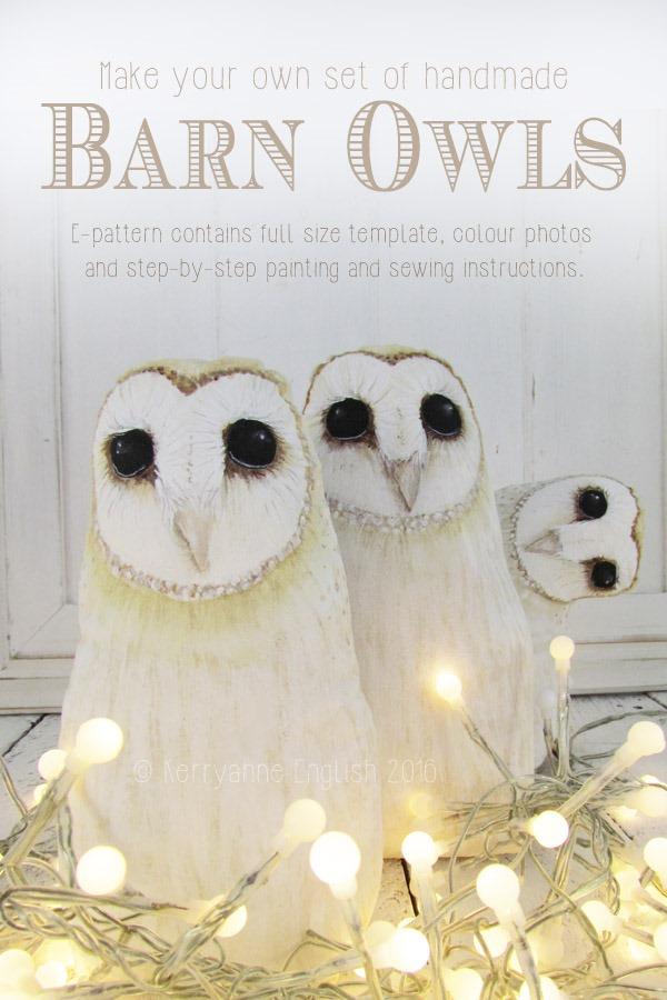 Shabby Art Boutique - Barn Owl E-pattern by Kerryanne English