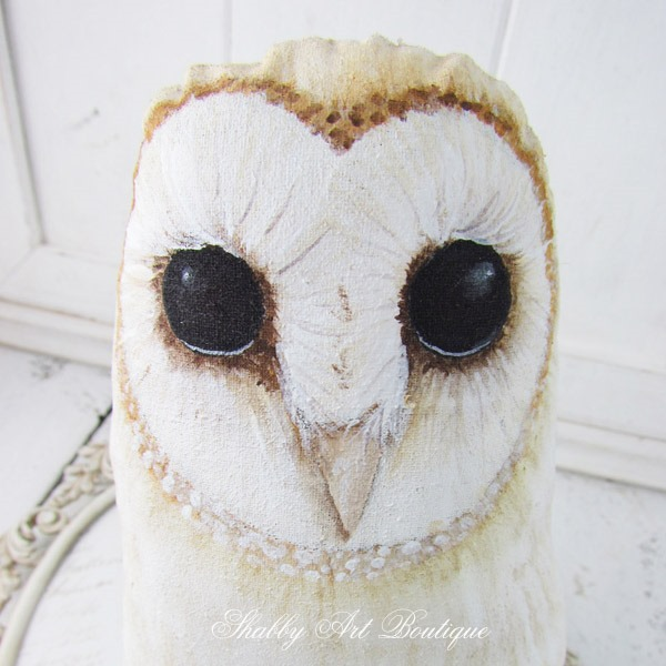 Shabby Art Boutique - Get the E-pattern to make these sweet Barn Owls by Kerryanne English