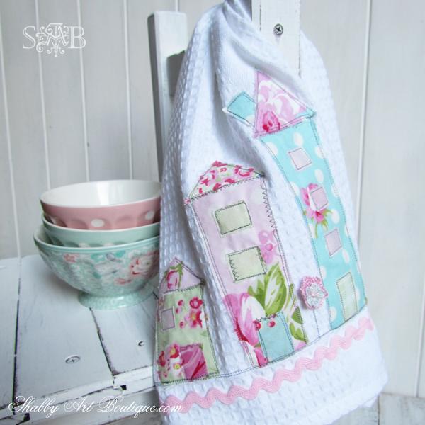 Shabby Art Boutique - Shabby House Tea Towel