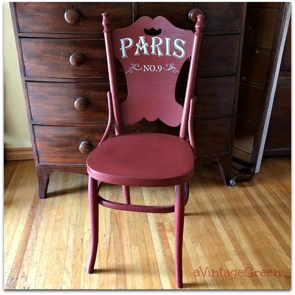 red chair paris stencilled