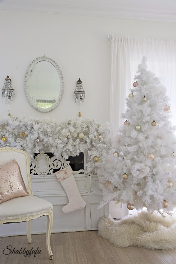 shabbyfufu christmas 2015 white tree