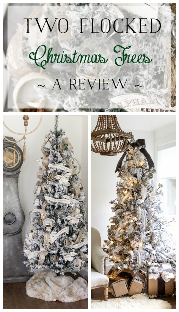 two-flocked-christmas-trees-a-review