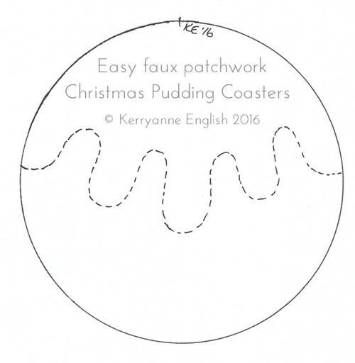 Faux patchwork christmas coasters shabby art boutique for Coaster size template