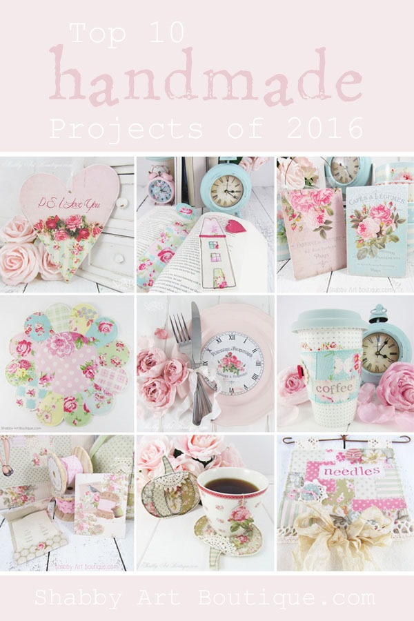 Shabby Art Boutique - My Top 10 Handmade Projects of 2016