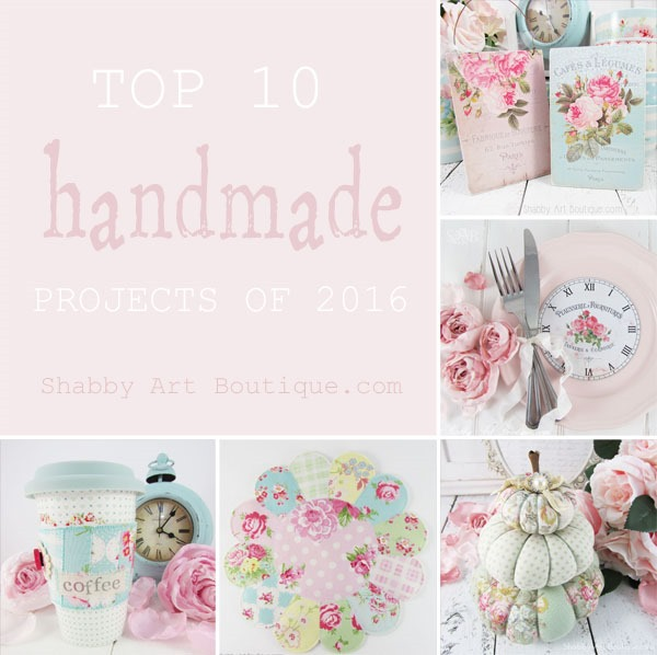 Shabby Art Boutique - Top 10 Handmade projects of 2016