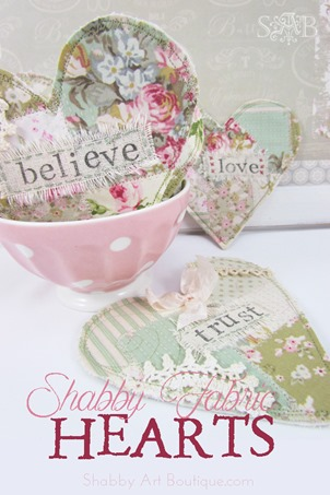 Shabby Art Boutique - shabby fabric hearts