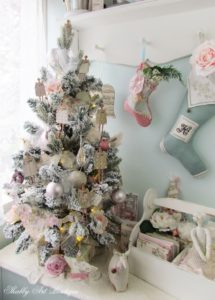 Handmade Ornaments for a Shabby Christmas Tree