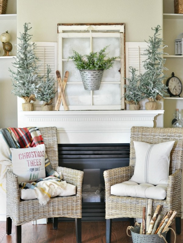 Winter-woodland-themed-Christmas-mantel-decor-atthepicketfence.com_