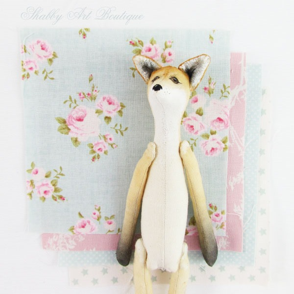 Dressing a Foxie doll by Shabby Art Boutique