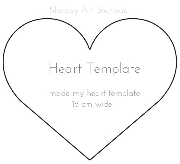 Heart template for Hanging Heart Pocket by Shabby Art Boutique