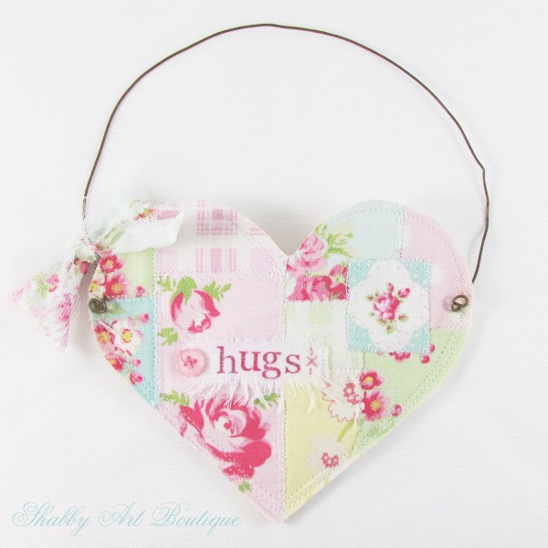 How to make a Heart Pocket by Shabby Art Boutique