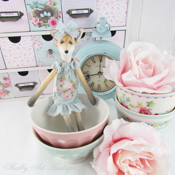 Little Miss Foxie - Shabby Art Boutique