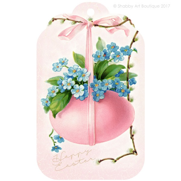 Download this pretty vintage Easter tag from Shabby Art Boutique