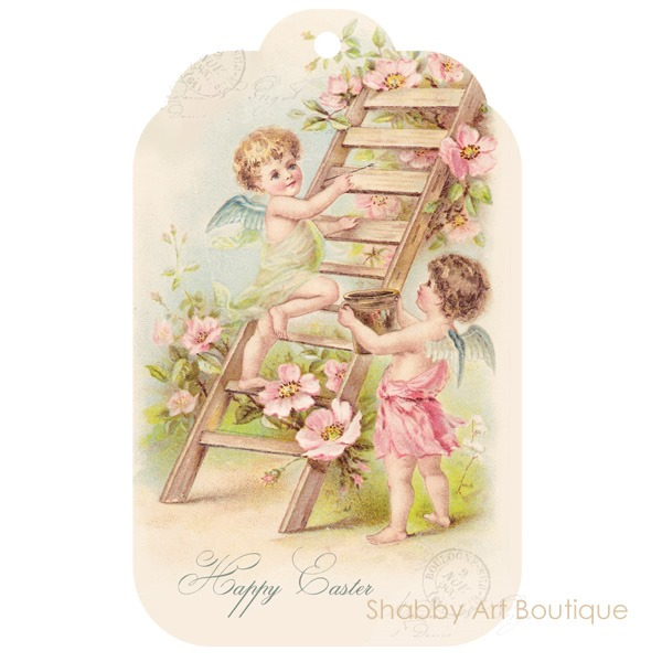 Free Easter Tag download from Shabby Art Boutique