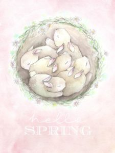 Free Spring Watercolour Printable