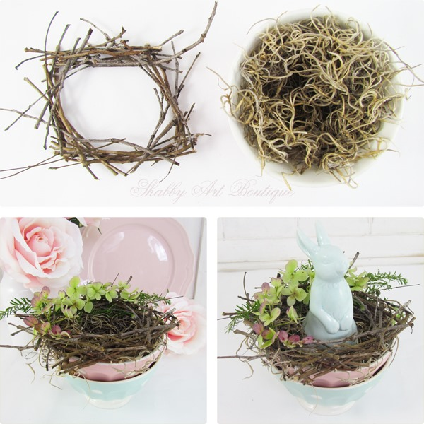 How to make an Easter nest by Shabby Art Boutique