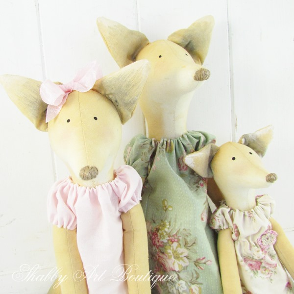 See how I made these gorgeous Tilda foxes on Shabby Art Boutique