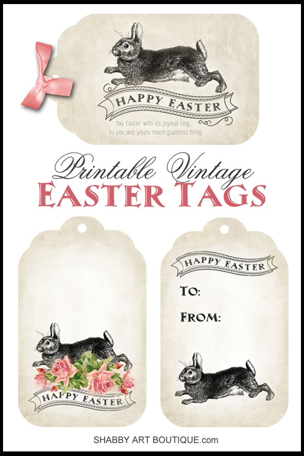 Shabby Art Boutique - Printable Vintage Easter Tags