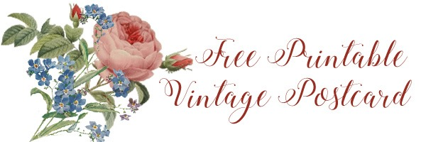 Free printable vintage postcard
