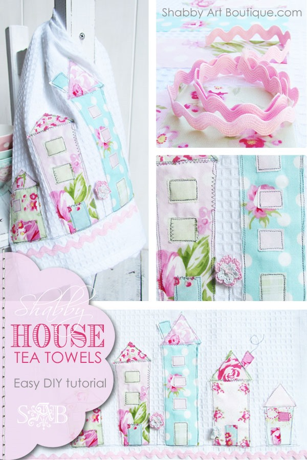 DIY Shabby House Tea Towels by Shabby Art Boutique