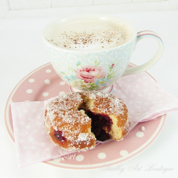 How to make homemade jam donuts - Shabby Art Boutique