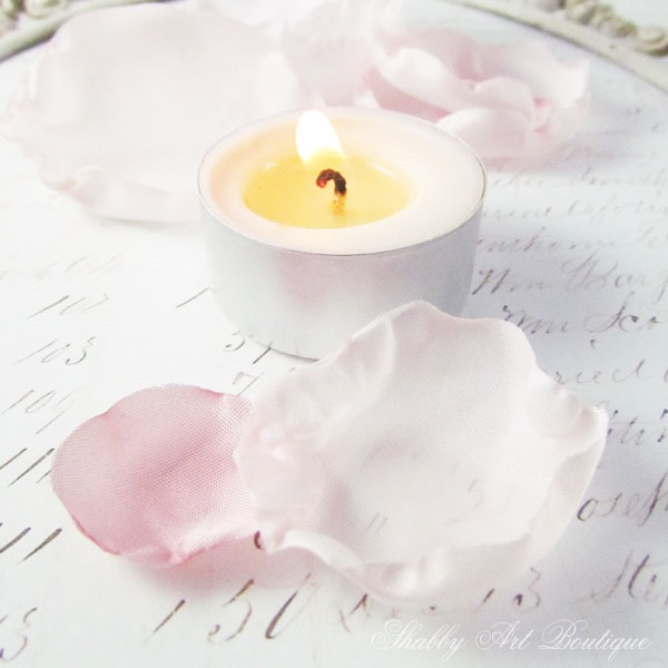 How to make homemade silk flowers using th ecandle method by Shabby Art Boutique