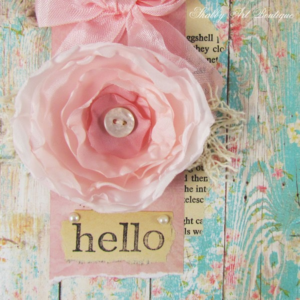 Tutorial for making handmade flower cards by Shabby Art Boutique