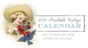 July to December Printable Vintage Calendar