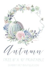 Free Printable for Autumn and Fall