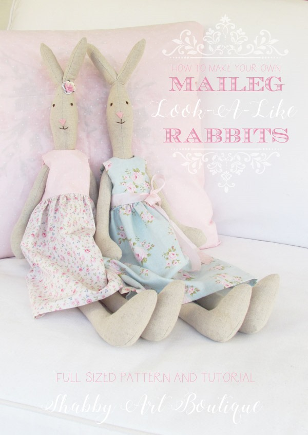 How To Make A Maileg Look A Like Rabbit Shabby Art Boutique