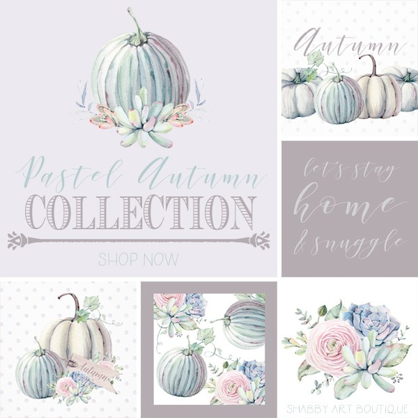 New Pastel Autumn Collection by Shabby Art Boutique - sold on Society 6