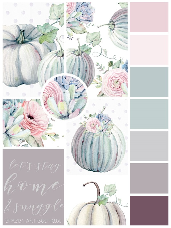 Pastel Autumn Moodboard from Shabby Art Boutique