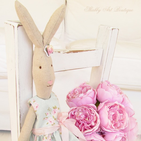 Blossom the Maileg look-a-like Rabbit by Shabby Art Boutique