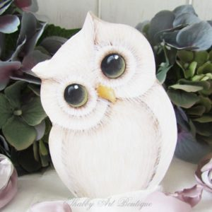 How to Paint Shabby Fall Owls