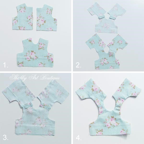 How to make Blossom's dress - see full tutorial and pattern at Shabby Art Boutique