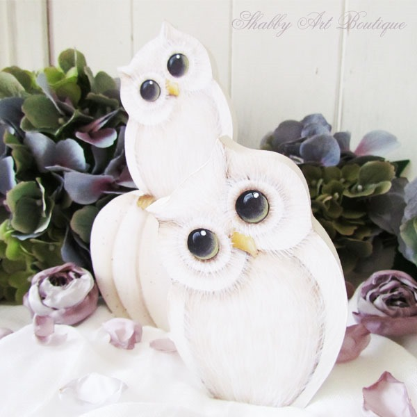 How to paint fall owls by Shabby Art Boutique