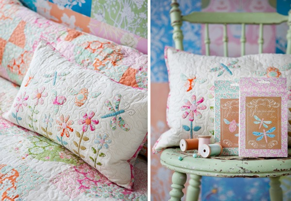 Bee Applique Pillow from the book Sewing by Heart by Tilda
