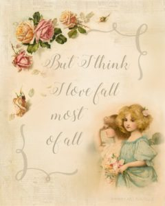 Free Vintage Fall Printable to Download