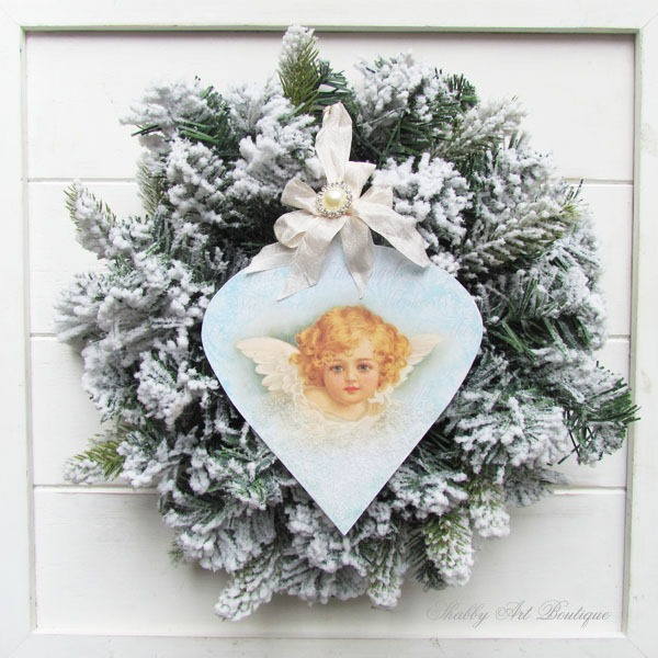 handmade vintage angel ornament tutorial from shabby art boutique - Handmade Angels Christmas Decorations