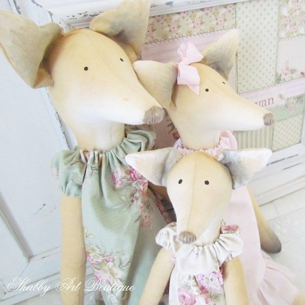 Tilda foxes by Shabby Art Boutique