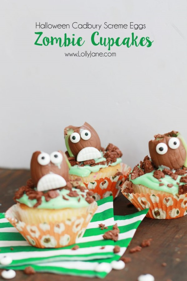 how-to-make-halloween-cadbury-screme-egg-zombie-cupcakes